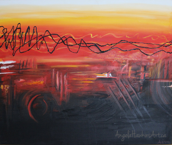 Chemical City Abstract Painting